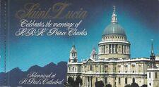 1981 ROYAL WEDDING H.M. PRINCE CHARLES & LADY DIANA SAINT LUCIA BOOKLET