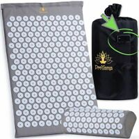 Massage Acupuncture Mat and Pillow Set Acupressure Needle Spike Yoga Shakti Mats