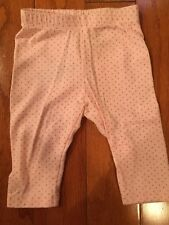 Baby Gap Pink With Gold Polka Dots Leggings 0-3 Months