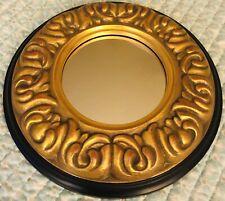 Decoritive Mirror Lightweight Black And Gold 13.25 In Diameter