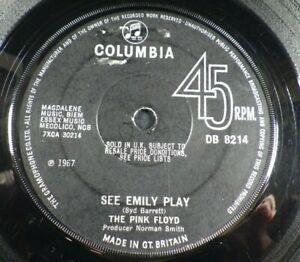 "The Pink Floyd, See Emily Play, 7"" Single 45RPM, Mono, Syd Barrett, DB 8214  VG+"