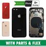 iPhone 8 Plus Rear Housing Cover Chassis With Parts & Flexes & Back Glass Gold