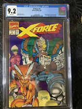 X-FORCE #1 White/Reversed UPC CGC 9.2 WT PAGES LIEFELD 1st X-FORCE! with Card