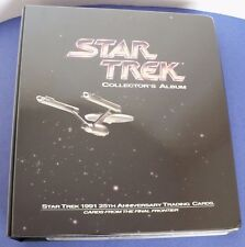 Star Trek The Collector's Album 25th Anniversary 1991 Trading Cards w/ Binder