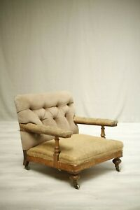 Victorian Buttoned back open armchair