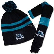 Penrith Panthers Baby Beanie Hat and Scarf Set