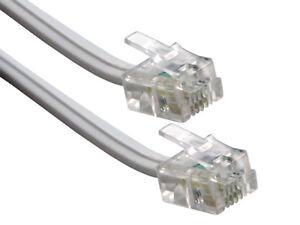 Cordon Câble Téléphone Téléphonique RJ11 Rallonge 20 m Longueur
