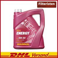 MANNOL Energy Motorenöle API SL 5W30 VW 502.00 505.00 ACEA A3 B3 MB 229.3 5Liter