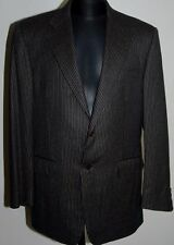 CANALI JACKET BLAZER WOOL BROWN STRIPED TWO BUTTONS DOUBLE VENTS UK 40 EU50