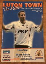Luton Town V Wigan Athletic Official Matchday Programme.Nationwide League 2.