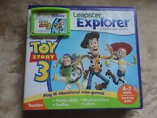 Leapfrog Leapster Explorer TOY STORY 3 Game case Leap Pad 2,3,GS, XDi Ultra