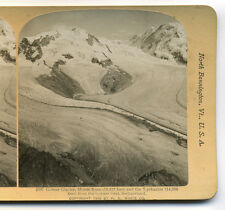 1901 Stereoview Groner Glacier, Monte Rosa, Switzerland, H.C. White
