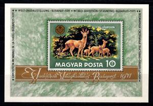 Hungary 1971 Mi. Bl. 82A SS 100% MNH Deer, Animals