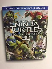 Teenage Mutant Ninja Turtles:Out of the Shadows (Blu-ray/DVD, 3D) BN w/slipcover