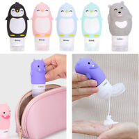 Silicone Travel Bottle Shampoo Shower Gel Lotion Sub-bottling Tube Squeeze Gifts