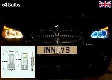 4x BMW E60 White Angel Eye SMD LED canbus Bulbs B08