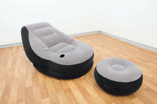 NEW Intex Recreation Ultra Inflatable Lounge Chair with Ottoman Camping Outdoor
