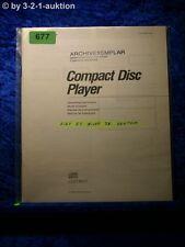 Sony Bedienungsanleitung CDP M33 CD Player  (#0677)