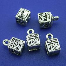 20pcs tibetan silver square charms findings h1521