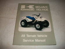 1987 KAWASAKI MOJAVE 110 110E ATV SHOP SERVICE MANUAL CLEAN MORE LISTED!