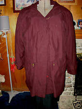 PLUS SZ 1X  PLUM COLORED WINTER & FALL COAT W/ZIP OUT LINING