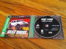 Playstation Play Station Test Drive Off-Road NTSC GRAVITY KILLS Video Game Race