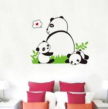 Panda Happy baby Pattern Removable Wall Stickers Decal Kids Home Decor USA