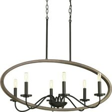 Progress Lighting Fontayne 6-Light Large Chandelier, Bronze - P400082-020