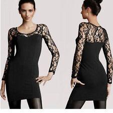 Lace Long Sleeve Skater Dresses for Women