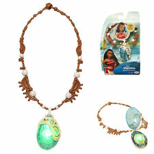 Disney Moana's Magical  Blue Seashell Necklace Light Up Soft Green Glow