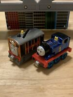 RARE Thomas Take Along Die-Cast Trains 60th Anniversary Metallic THOMAS & TOBY