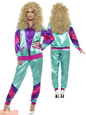 80s Height of Fashion Shell Suit Costume Female - Fancy Dress Ladies 19 Track