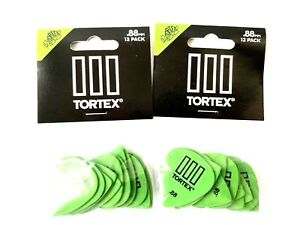 Dunlop Tortex T3  Guitar Picks Green .88 mm 12-Pack Acoustic Or Electric 2 each