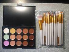 Concealer Contour Makeup Palette Kit Make Up Set + Make-Up Brush Set