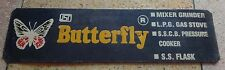 VINTAGE COLLECTIBLE BUTTERFLY GAS STOVE ADVERTISEMENT TIN SIGN BOARD 78