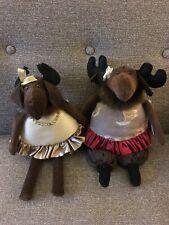 New Pair of Stuffed Animal Moose by Woof & Poof