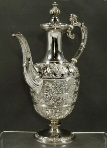 English Sterling Coffee Pot                  1872 CELLINI
