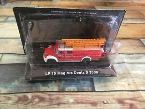 Miniature Camion de Pompiers LF 15 Magirus Deutz S 3500 DeAgostini 1/72