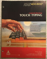 1981 Computer Program Touch Typing Atari 400/800 Instruction Manual Booklet