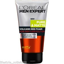 L'OREAL PARIS MEN EXPERT PURE & MATTE VOLCANO RED FOAM ACNE DEEP FACE CLEANSER