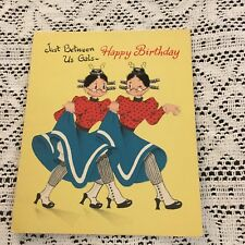 Vintage Greeting Card Birthday Old Lady Friends Norcross
