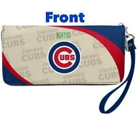 Chicago Cubs MLB Curve Zip Organizer Ladies Wallet