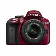 Used Nikon D3300 with 18-55mm Dx Vr Ii Red Excellent Free Shipping