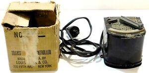 Marx Prewar No. 809 50W Transformer w/OB (Rough) Missing Wooden Handle