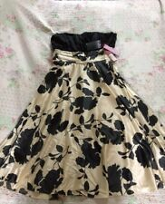 STUNNING Monsoon Floral Silk Cotton Gold/black Prom Party Dress-sz 12