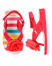 NWT Gymboree SWIM SHOP sz 7-8 Striped Flip Flops Toddler Girls