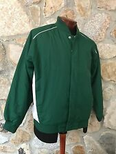 Russell Athletic GREEN & WHITE Quilt Lined Baseball Sports Jacket Men's S NEW