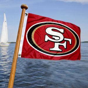 San Francisco 49ers Small Mini Boat and Cart Flag