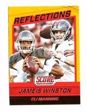 Jameis Winston, Eli Manning 2016 score, reflections, (oro), Football CARD!!!