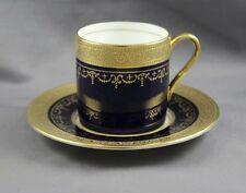 Aynsley China Georgian Cobalt Demitasse Cup & Saucer (s)